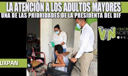 LA ATENCIÓN A LOS ADULTOS MAYORES, UNA DE LAS PRIORIDADES DE LA PRESIDENTA DEL DIF