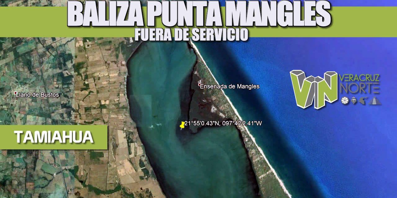 BALIZA PUNTA MANGLES FUERA DE SERVICIO