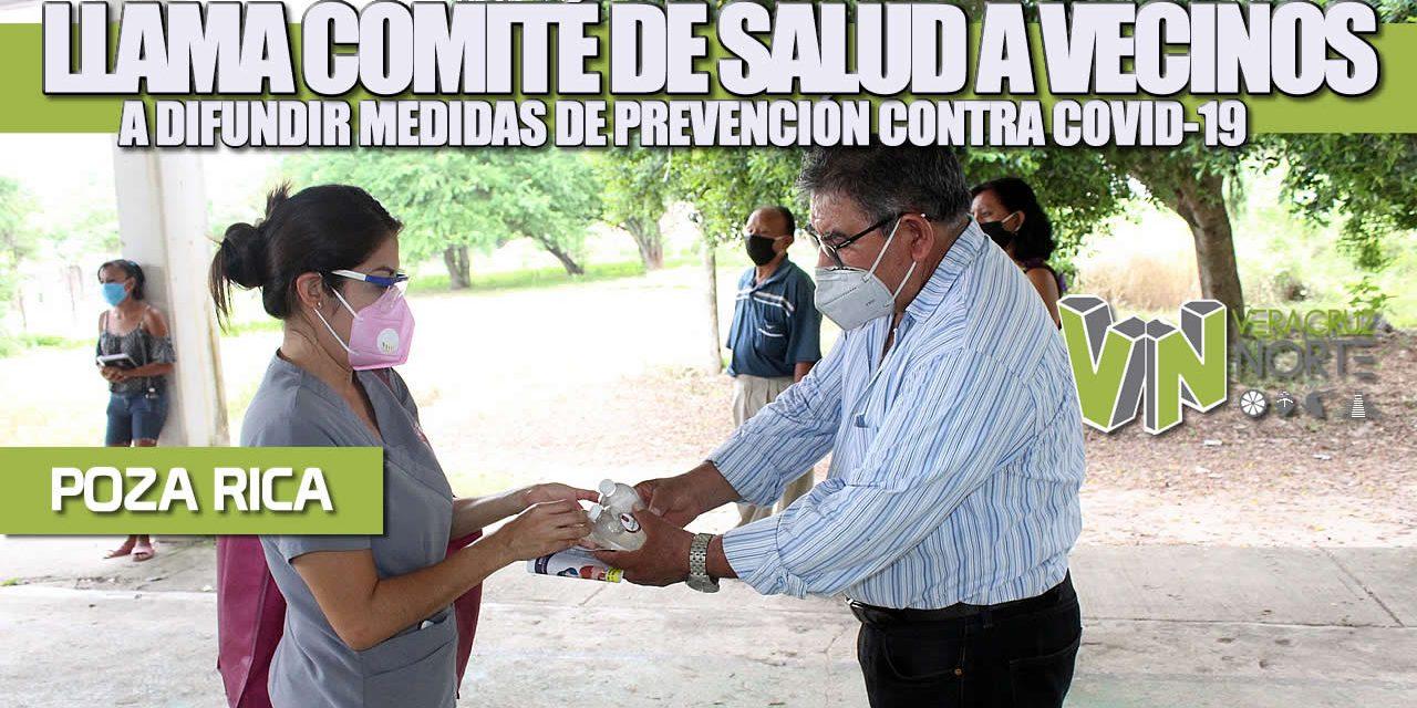 Llama Comité Municipal de Salud a vecinos a difundir medidas de prevención contra el COVID-19