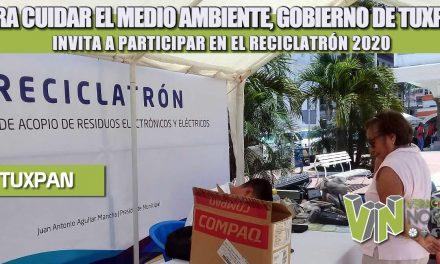 PARA CUIDAR EL MEDIO AMBIENTE, GOBIERNO DE TUXPAN INVITA A PARTICIPAR EN EL RECICLATRÓN 2020