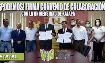 ¡PODEMOS! FIRMA CONVENIO DE COLABORACIÓN CON LA UNIVERSIDAD DE XALAPA