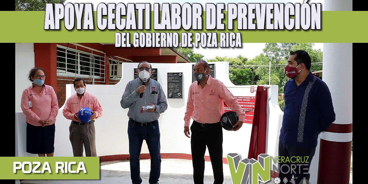 APOYA CECATI LABOR DE PREVENCIÓN DEL GOBIERNO DE POZA RICA