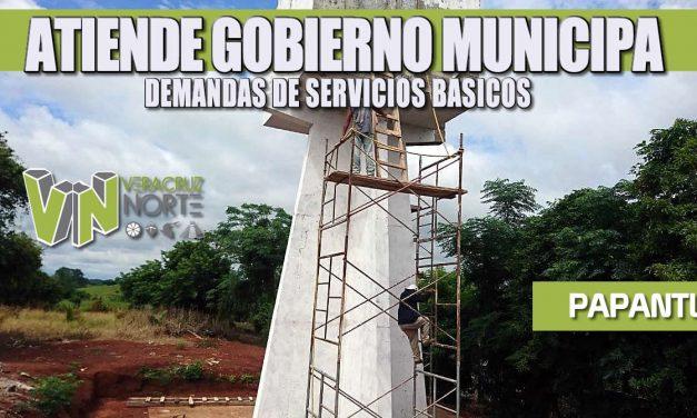 ATIENDE GOBIERNO MUNICIPAL DEMANDAS DE SERVICIOS BÁSICOS
