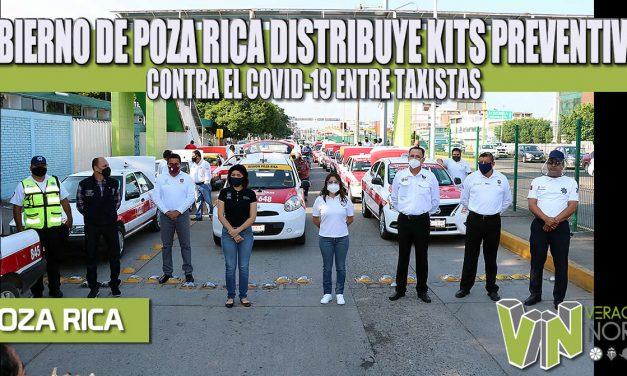 GOBIERNO DE POZA RICA DISTRIBUYE KITS PREVENTIVOS CONTRA EL COVID-19 ENTRE TAXISTAS