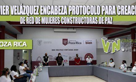 JAVIER VELÁZQUEZ ENCABEZA PROTOCOLO PARA CREACIÓN DE RED DE MUJERES CONSTRUCTORAS DE PAZ