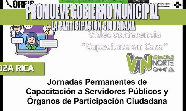 PROMUEVE GOBIERNO MUNICIPAL LA PARTICIPACIÓN CIUDADANA