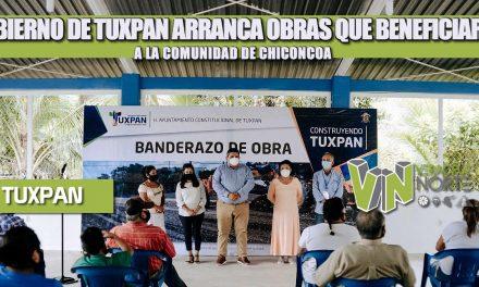 GOBIERNO DE TUXPAN ARRANCA OBRAS QUE BENEFICIARÁN A LA COMUNIDAD DE CHICONCOA