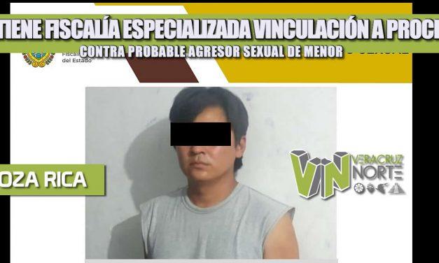 OBTIENE FISCALÍA ESPECIALIZADA VINCULACIÓN A PROCESO CONTRA PROBABLE AGRESOR SEXUAL DE MENOR