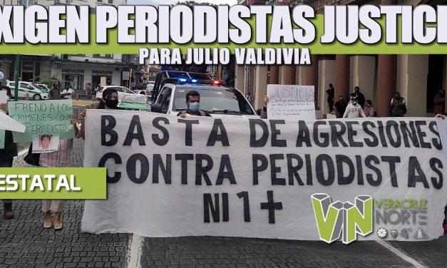 EXIGEN PERIODISTAS JUSTICIA PARA JULIO VALDIVIA