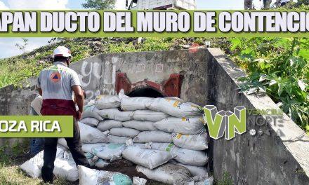 TAPAN DUCTO DEL MURO DE CONTENCIÓN