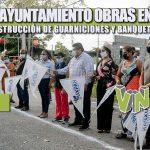 CONTINÚA AYUNTAMIENTO OBRAS EN COLONIAS; ARRANCA CONSTRUCCIÓN DE GUARNICIONES Y BANQUETAS EN LA MATA