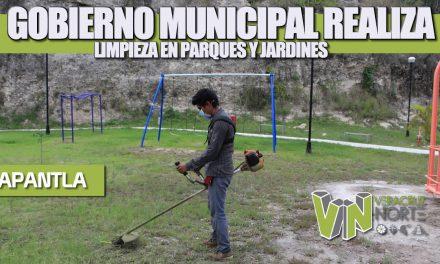 GOBIERNO MUNICIPAL REALIZA LIMPIEZA EN PARQUES Y JARDINES