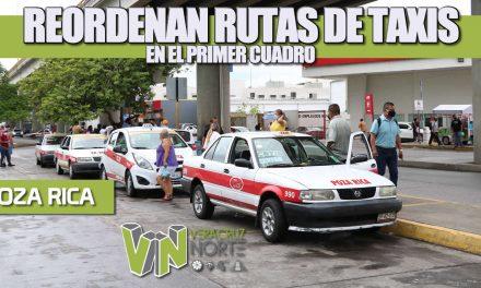 Reordenan Rutas DE TAXIS EN EL PRIMER CUADRO