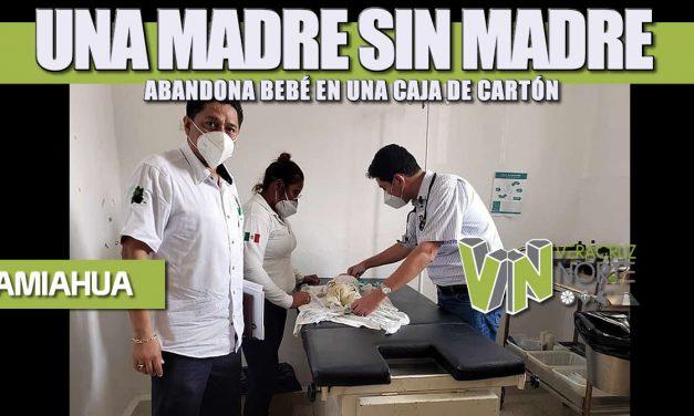 UNA MADRE SIN MADRE ABANDONA BEBÉ EN UNA CAJA DE CARTÓN