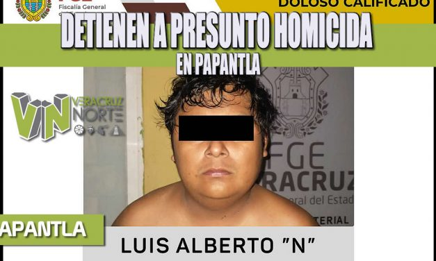 DETIENEN A PRESUNTO HOMICIDA EN PAPANTLA