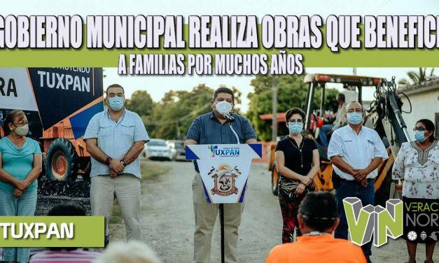 EL GOBIERNO MUNICIPAL REALIZA OBRAS QUE BENEFICIAN A FAMILIAS POR MUCHOS AÑOS