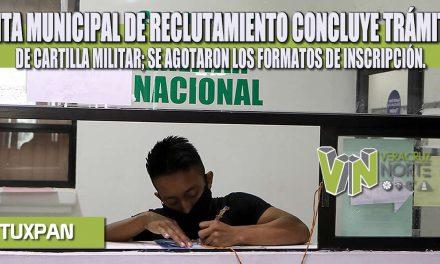JUNTA MUNICIPAL DE RECLUTAMIENTO CONCLUYE TRÁMITES DE CARTILLA MILITAR; SE AGOTARON LOS FORMATOS DE INSCRIPCIÓN.