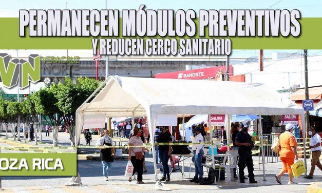PERMANECEN MÓDULOS PREVENTIVOS Y REDUCEN CERCO SANITARIO