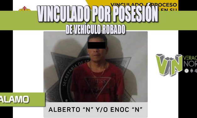 VINCULADO POR POSESIÓN DE VEHÍCULO ROBADO