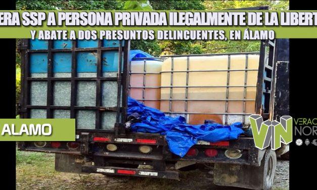 LIBERA SSP A PERSONA PRIVADA ILEGALMENTE DE LA LIBERTAD Y ABATE A DOS PRESUNTOS DELINCUENTES, EN ÁLAMO