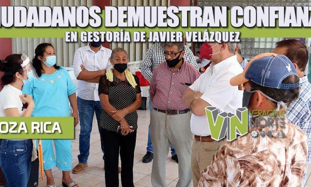 CIUDADANOS DEMUESTRAN CONFIANZA EN GESTORÍA DE JAVIER VELÁZQUEZ