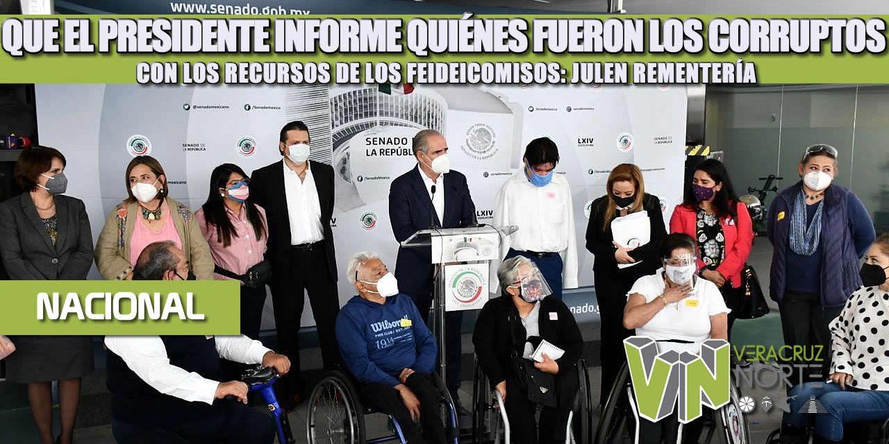 QUE EL PRESIDENTE INFORME QUIÉNES FUERON LOS CORRUPTOS CON LOS RECURSOS DE LOS FEIDEICOMISOS: JULEN REMENTERÍA