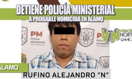 DETIENE POLICÍA MINISTERIAL A PROBABLE HOMICIDA EN ÁLAMO