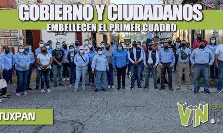 GOBIERNO Y CIUDADANOS EMBELLECEN EL PRIMER CUADRO