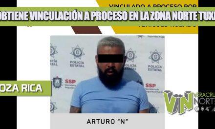 SE OBTIENE VINCULACIÓN A PROCESO EN LA ZONA NORTE TUXPAN