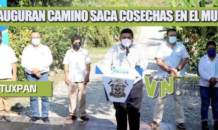 INAUGURAN CAMINO SACA COSECHAS EN EL MURO