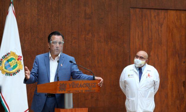En dos ocasiones Gobernador de Veracruz se hizo la prueba del Covid; en ambas resultó negativo