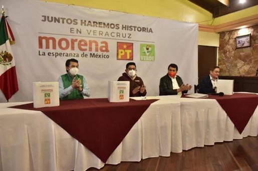 """SE REGISTRA ANTE EL OPLE LA COALICION """"JUNTOS HAREMOS HISTORIA"""" EN VERACRUZ"""