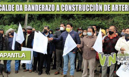 ALCALDE DA BANDERAZO A CONSTRUCCIÓN DE ARTERIAS