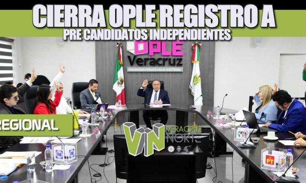 Cierra OPLE registros a pre-candidatos independientes