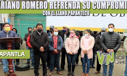 MARIANO ROMERO REFRENDA SU COMPROMISO CON EL LLANO PAPANTECO