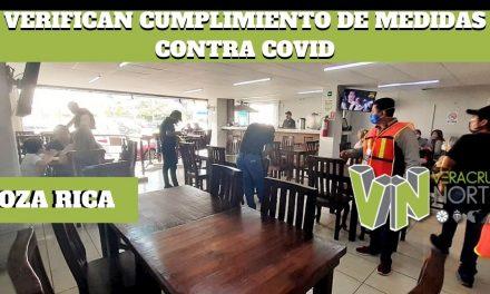 VERIFICAN CUMPLIMIENTO DE MEDIDAS DE PREVENCIÓN CONTRA COVID, EN NEGOCIOS