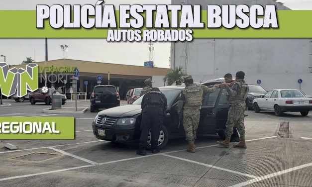 Policía Estatal busca autos robados