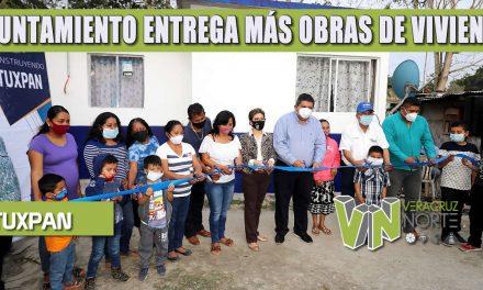 GOBIERNO DE TUXPAN ENTREGA MÁS OBRAS DE VIVIENDA DIGNA, SUMAN 175 FAMILIAS BENEFICIADAS