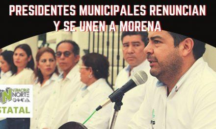 PRESIDENTES MUNICIPALES DE NUEVA ALIANZA SE INCORPORAN A MORENA