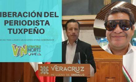 Liberación deL PERIODISTA TUXPEÑO se dio tras llegar a un «acuerdo», afirma Gobernador
