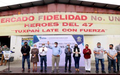 REHABILITACIÓN CON NUEVO TECHADO AL DOMO DEL MERCADO HEROES DEL 47