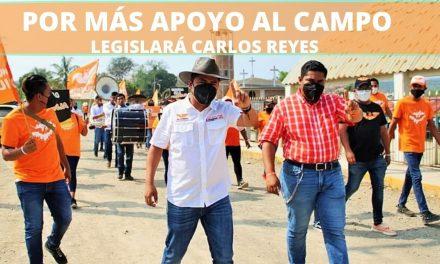 POR MÁS APOYO AL CAMPO LEGISLARÁ CARLOS REYES