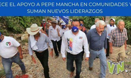 CRECE EL APOYO A PEPE MANCHA EN COMUNIDADES Y SE SUMAN NUEVOS LIDERAZGOS