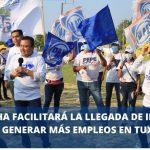 PEPE MANCHA FACILITARÁ LA LLEGADA DE INVERSIONES PARA GENERAR MÁS EMPLEOS EN TUXPAN