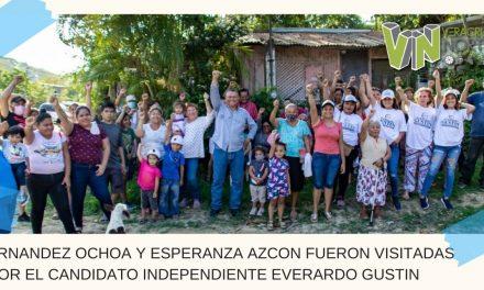 LA HERNANDEZ OCHOA Y ESPERANZA AZCON FUERON VISITADAS POR EL CANDIDATO INDEPENDIENTE EVERARDO GUSTIN.