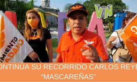 """CONTINÚA SU RECORRIDO CARLOS REYES """"MASCAREÑAS"""""""