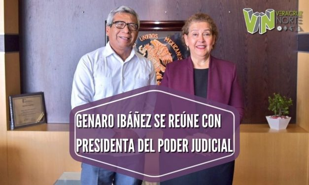 GENARO IBÁÑEZ SE REÚNE CON PRESIDENTA DEL PODER JUDICIAL