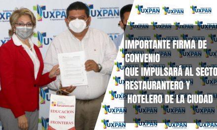 IMPORTANTE FIRMA DE CONVENIO QUE IMPULSARÁ AL SECTOR RESTAURANTERO Y HOTELERO DE LA CIUDAD