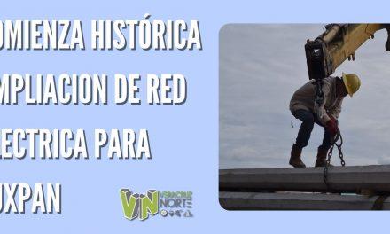 COMIENZA HISTÓRICA AMPLIACION DE RED ELECTRICA PARA TUXPAN