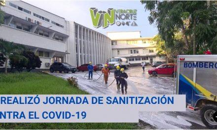 SE REALIZÓ JORNADA DE SANITIZACIÓN CONTRA EL COVID-19